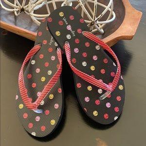 Vera Bradley flip-flops adorable size small NWOT
